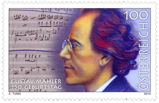 (2010) č. 2868 ** - Rakousko - 150. let od narození Gustava Mahlera