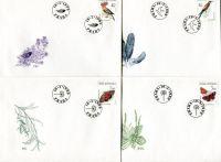 (1999) FDC 209-212 - Ochrana přírody - ptáci, motýli