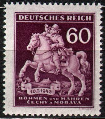 Protektorát Čechy a Morava (1943) č. 102 ** B.ü.M. - Den poštovní známky - Postilion