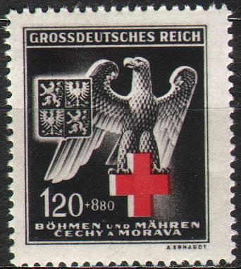 Protektorát Čechy a Morava (1943) č. 112 ** - B.ü.M. - Německý červený kříž ( IV.)