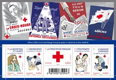(2010) č. 5009 - 5013 ** - Francie - BLOCK 144 - Červený kříž 2010