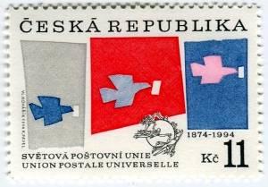 (1994) č. 48 ** - Česká repubika - 120. let Světové poštovní unie