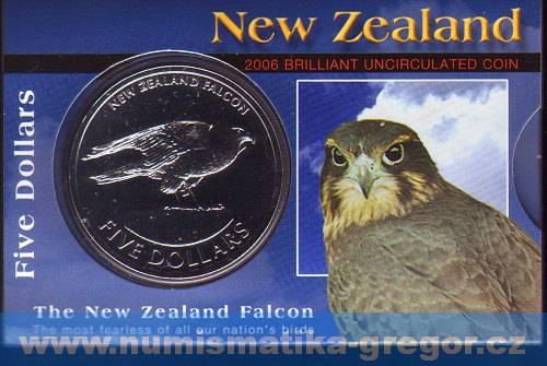 (2006) 5$ - Nový Zéland - Sokol (UNC)