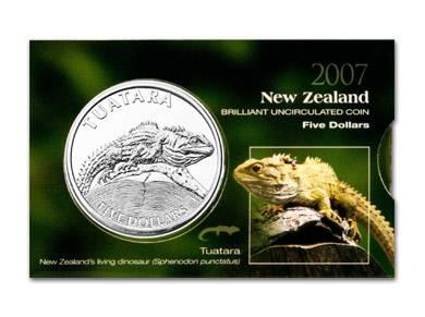 (2007) 5$ - Nový Zéland - Tuatara (UNC) Royal Australian Mint