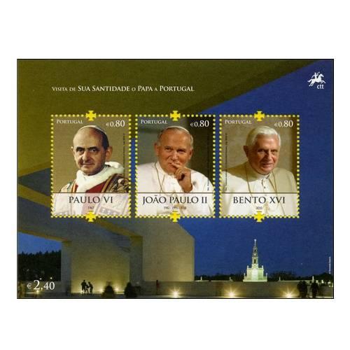 (2010) č. 3512-3514 ** - BLOCK 298 - Portugalsko - návštěva papeže v Portugalsku