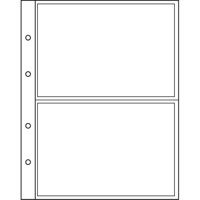 NUMIS listy - NH 2C - průhledné (bal. 10 ks) Leuchtturm