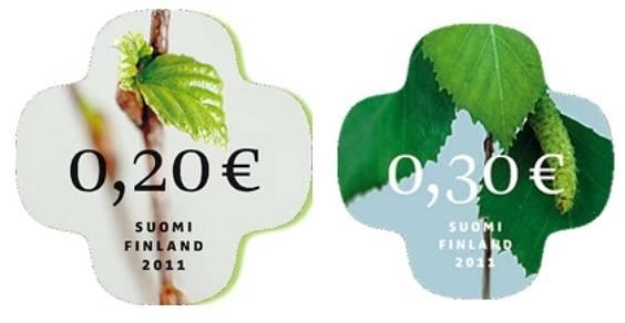 (2011) č. 2085 - 2086 ** - Finsko - Jarní listy