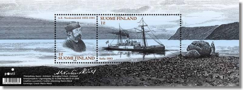 (2008) č. 1936-1937 ** - Finsko - BLOCK 52 - Adolf Erik Nordenskiöld