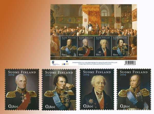 (2009) č. 1942-1945 ** - Finsko - BLOCK 53 - 1809 - Národní budova