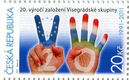 (2011) č. 673 ** - ČR - 20. výročí založení Visegrádské skupiny