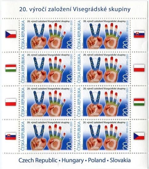 (2011) PL 673 ** - ČR - 20. výročí založení Visegrádské skupiny
