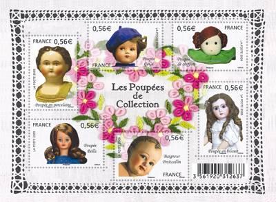 (2009) č. 4757-4762 ** - Francie - BLOCK 111 - sbírání panenek