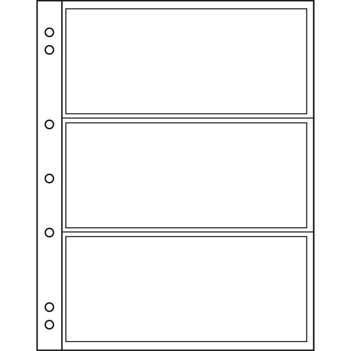 NUMIS listy - NH 3C - průhledné (bal. 10 ks)