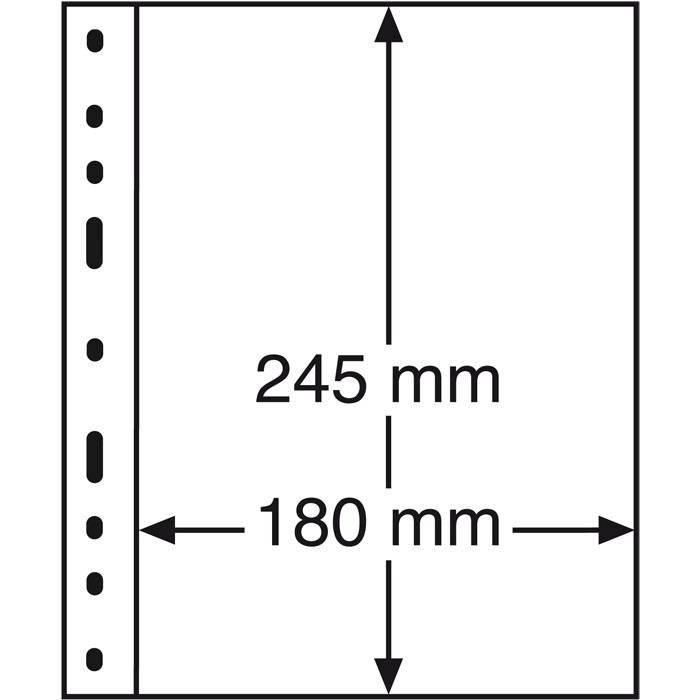 OPTIMA listy - 1S - černé (bal. 10 ks) Leuchtturm