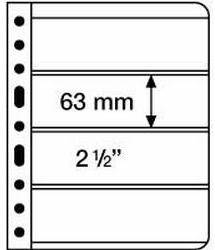 Kunststoffhüllen VARIO, 4er-Einteilung, klare Folie