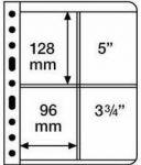 VARIO Plastic Pockets, 2-way division, vertically divided, black film