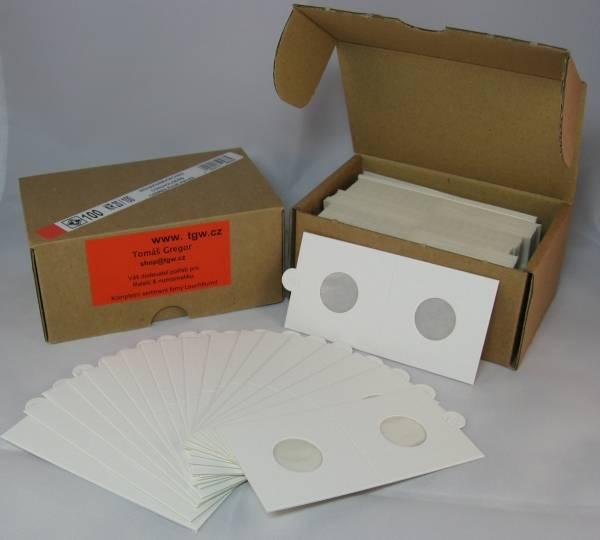 Mincovní rámečky pap. sešívací (100ks) Ø 25 mm