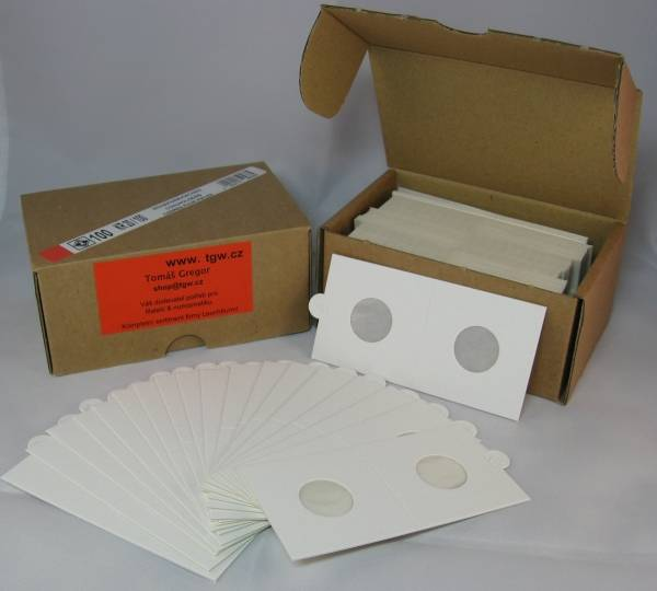 Mincovní rámečky pap. sešívací (100ks) Ø 37,5 mm