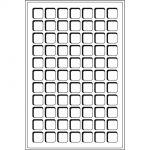 Mincovní plata TAB - 77 polí do 22 mm (1 ks v balení)