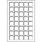 Mincovní plata TAB - 40 polí do 33 mm (1 ks v balení)