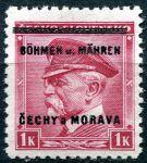 (1939) č. 10 ** - B.u.M. - 1 K - přetisková série - T. G. Masaryk