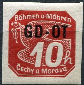 (1939) č. OT1 ** - B. ü. M. - Přetisk GD-OT