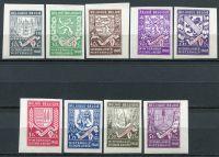 (1941) MiNr. 544 - 552 B ** - Belgie - Zimní pomoc: erby (II.)