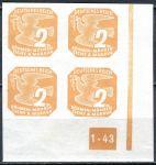 (1943) č. NV 10 ** - B. ü. M. - Novinové známky - 4-bl - A 1 - 43 - P