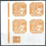 (1943) č. NV 10 ** - B. ü. M. - Novinové známky - 4-bl - B 1 - 43 - L