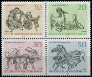(1969) MiNr. 338 - 341 ** soutisk - Berlín - západní - 125 let Berlínské ZOO
