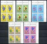 (1976) MiNr. 936 - 940 ** - Lucembursko - 4-bl - Charita: Chráněné rostliny (II)