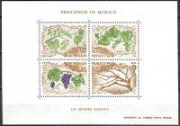 (1987) MiNr. 1810 - 1813 ** - Monako - BLOCK 36 - Čtyři roční období (V)