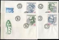 (1996) FDC 105 - 108 - ČR- Lucemburská dynastie