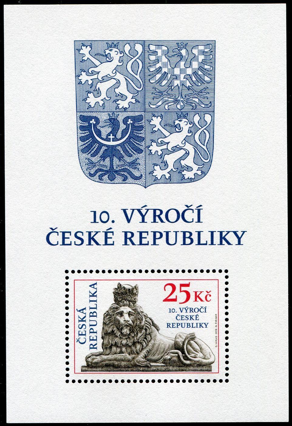(2003) A 346 B ** - ČR - 10. výročí ČR ( RZ 11 1/2 : 11 3/4 )
