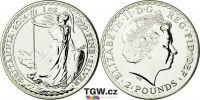 (2014) Velká Británie - 2 pounds (stříbrná mince)  BRITANNIA (UNC)