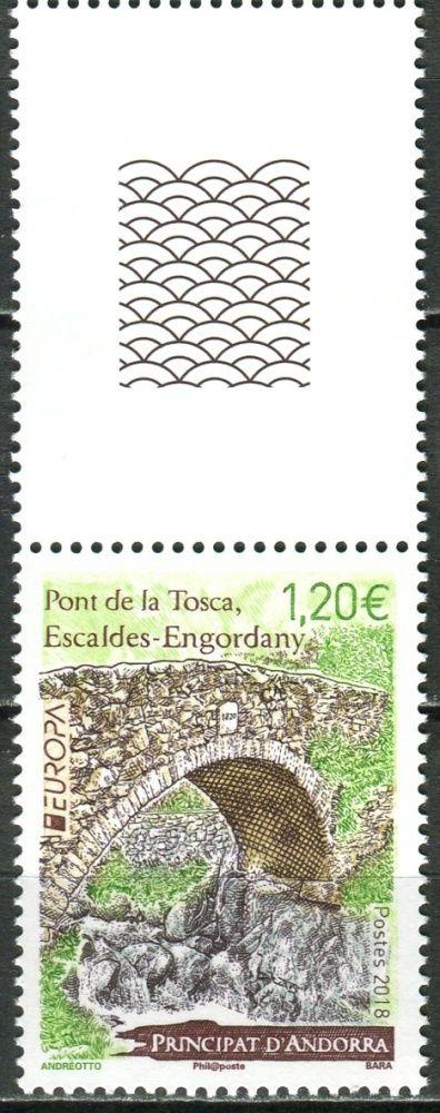 (2018) MiNr. 834 ** - Andorra (Fr.) - KH - Europa: mosty