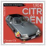 (2018) MiNr. 842 ** - Andora (Fr.) - Osobní automobily - Citroën CX (1974)
