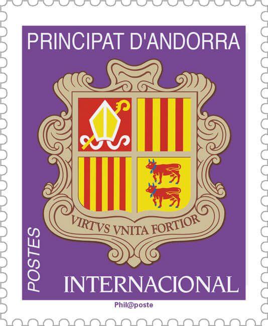 (2019) MiNr. 844 ** - Andorra (Fr.) - Znak Andorry