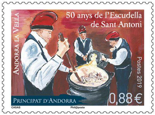 "(2019) MiNr. 846 ** - Andora (Fr.) - 50 let festival ""Escudella de Sant Antoni"""