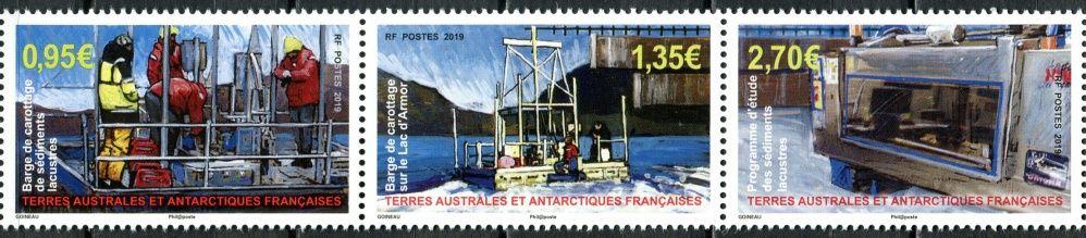 (2019) MiNr.  ** - Francouzská Antarktida - sp - program jezerní sedimenty