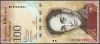 Venezuela (P 93g) - 100 bolivares (27.12.2012) - UNC