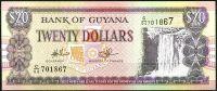 Guyana (P 30e2) - 20 dolarů (2010) - tisk CBNC -  UNC