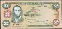Jamajka (P 69e) - 5 Dollars (1993) - UNC
