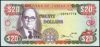 Jamajka (P 72f) - 20 Dollars (1996) - UNC