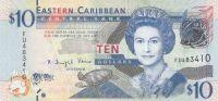 Východokaribský dolar (P 52a) - 10 Dollars (2012) - UNC