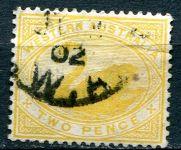 (1898-1907) Sg. 113 - O - Západní Austrálie - 2 pence, žlutá - Labuť