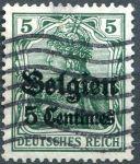 (1914) MiNr. 2 - O - DR/ Belgie - přetisk 5 Centimes