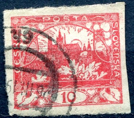 (1918) č. 5 - O - ČSR I. - Hradčany 10 h - červená