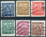 (1929) č. 248 - 253 - O - ČSR I. - Státní znak (série)