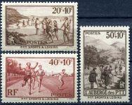 (1937) MiNr. 348 - 350 ** - Francie - Sportovní aktivity pošťáků.